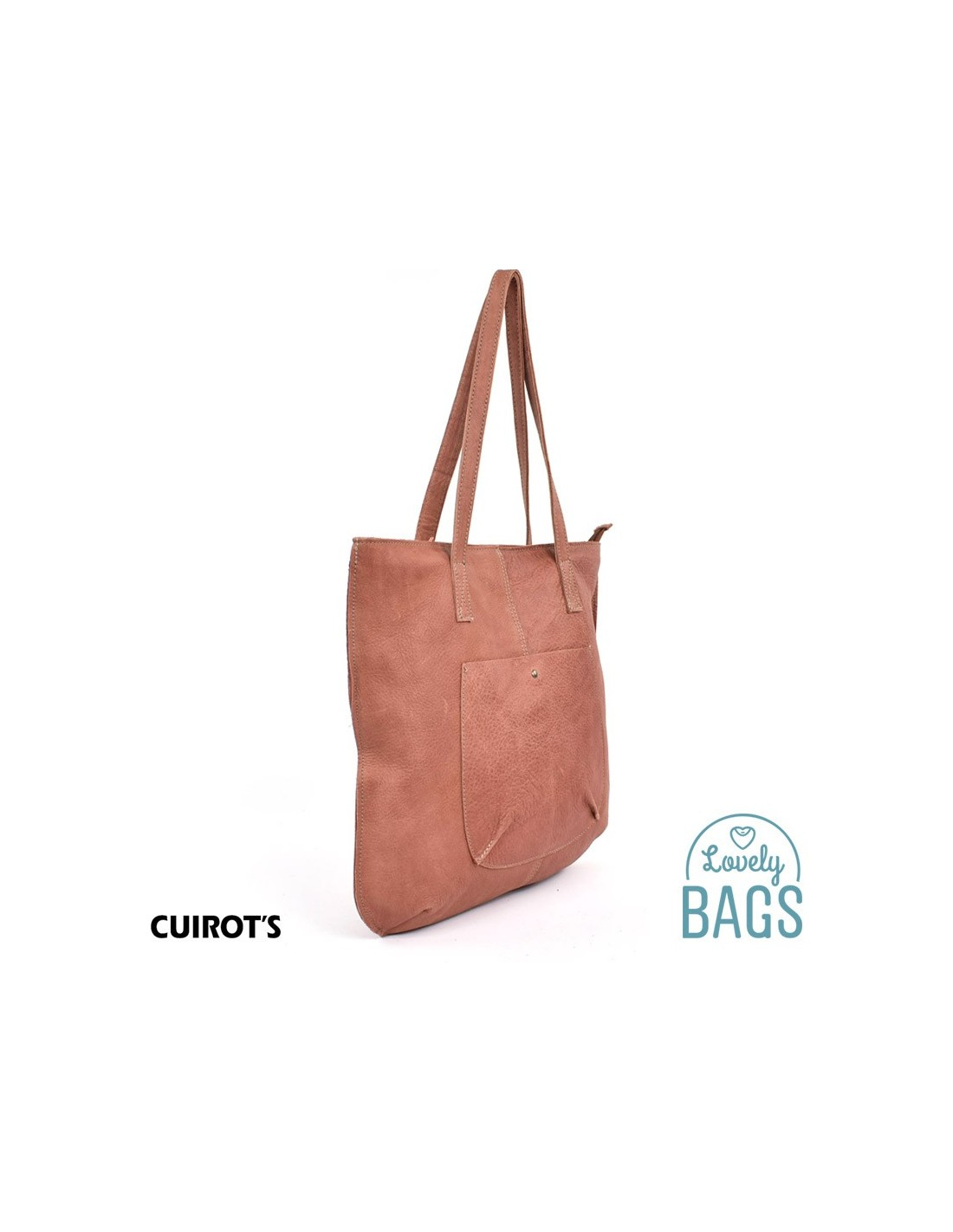 Bolso Hobo Bag plano, grande Cuirots, piel Maverick