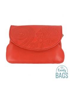 Monedero rojo anaranjado de...