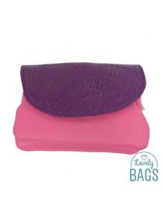 Moneder de pell rosa i lila...